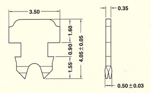 2.端子2-009多/單蕊線共用二叉型端子  Two prongs pin for solid and stranded wire
