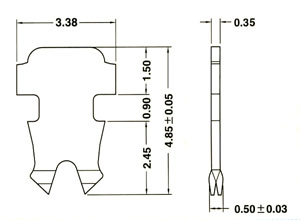 5.端子2-008多/單蕊線共用二叉型端子 Two prongs pin for solid and stranded wire